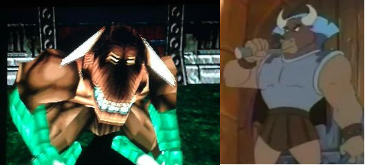 Hey, check it out! It's Dominus Tusk from the Aladdin cartoon!!