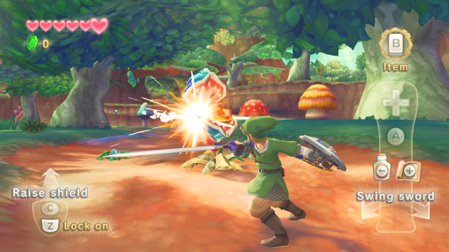 Skyward Sword gameplay