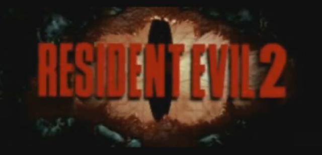 Resident Evil 2 Title Screen