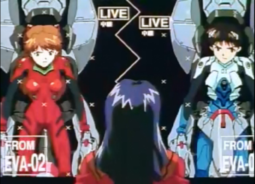 Shinji: S,sorry! I thought that our button commands would be the same. The game didn't tell us that! Asuka: Dammit, Akari, get it together! If this monster blows us up, whatever's left of me is kicking your ass!