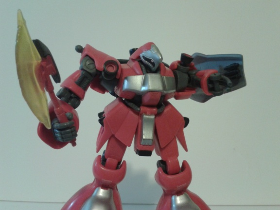 big red gundam without arm