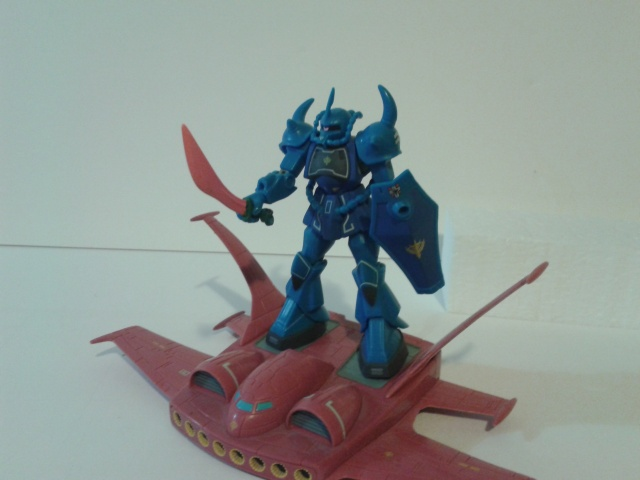 Blue Zaku unit with transport