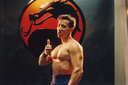 Johnny Cage portrayed by Daniel Pesina