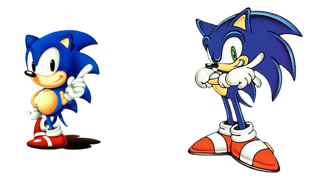 Old Sonic and New Sonic