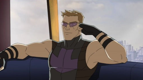 Hawkeye's sunglasses