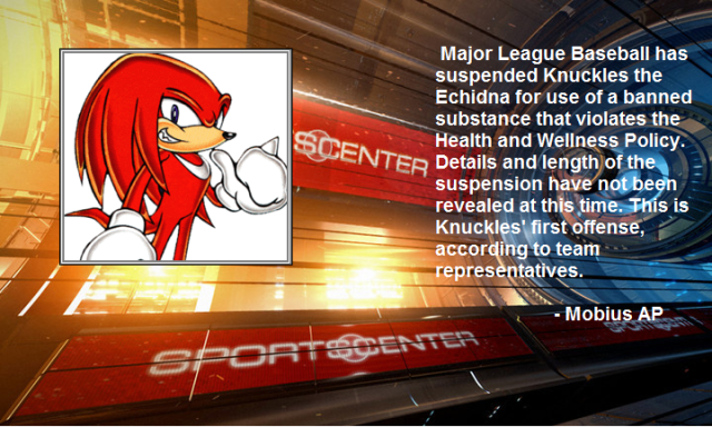Knuckles suspended