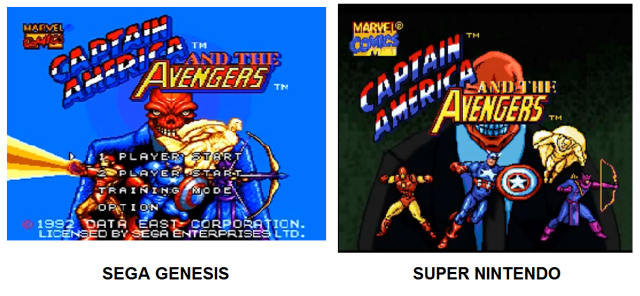 Title Screens Genesis v SNES