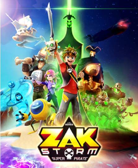 Zak Storm title card