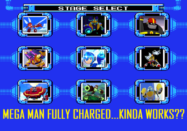 Mega Man stage select screen